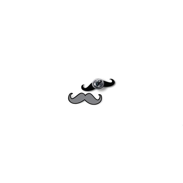 Moustache - hand painted pin