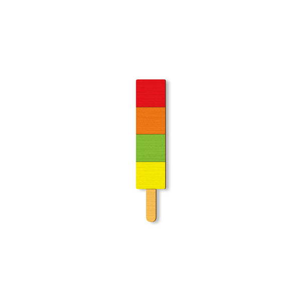 Popsicle - hand painted pin