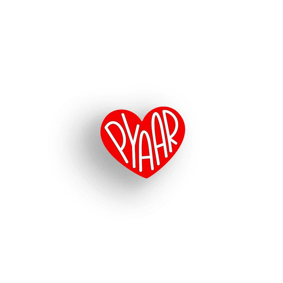 Pyaar - hand painted pin