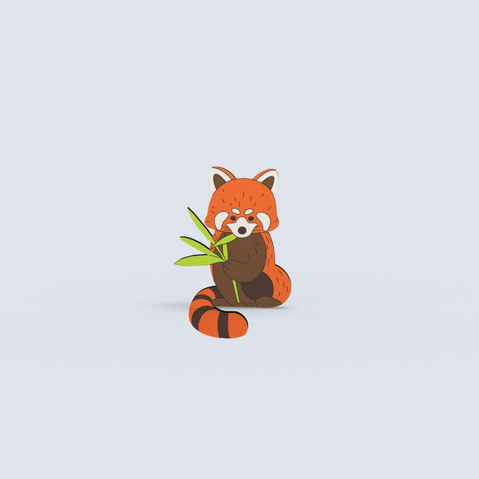 Red Panda lapel pin