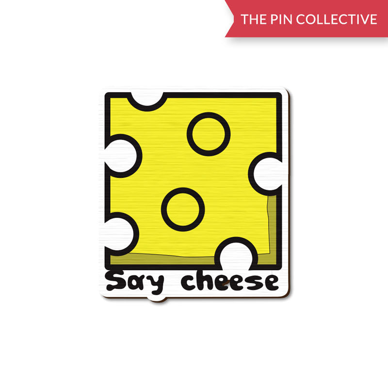 Say Cheese lapel pin