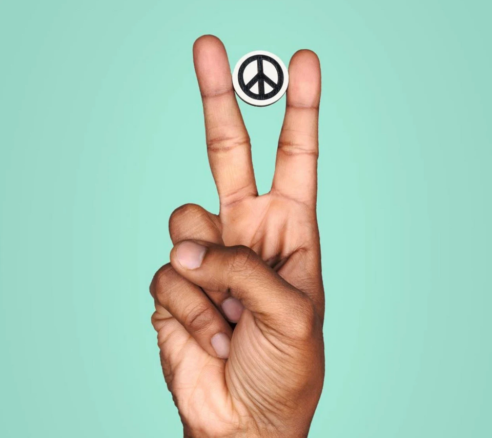 peace lapel pin