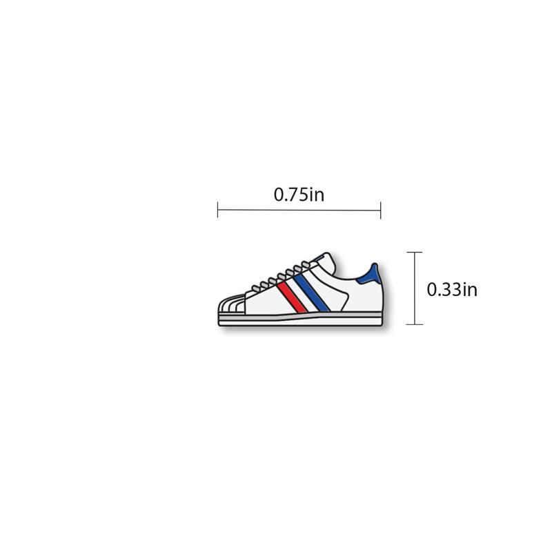 Sneaker Enamel - hand painted pin