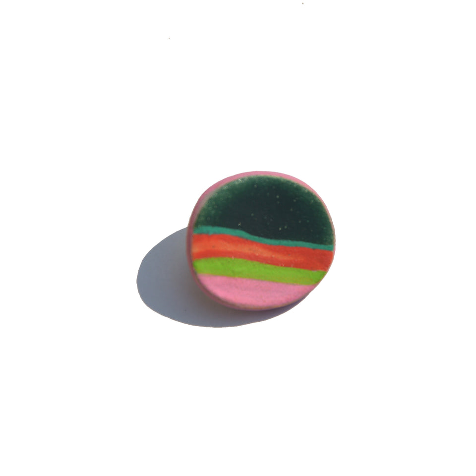 Stoneware Pin Black - Small