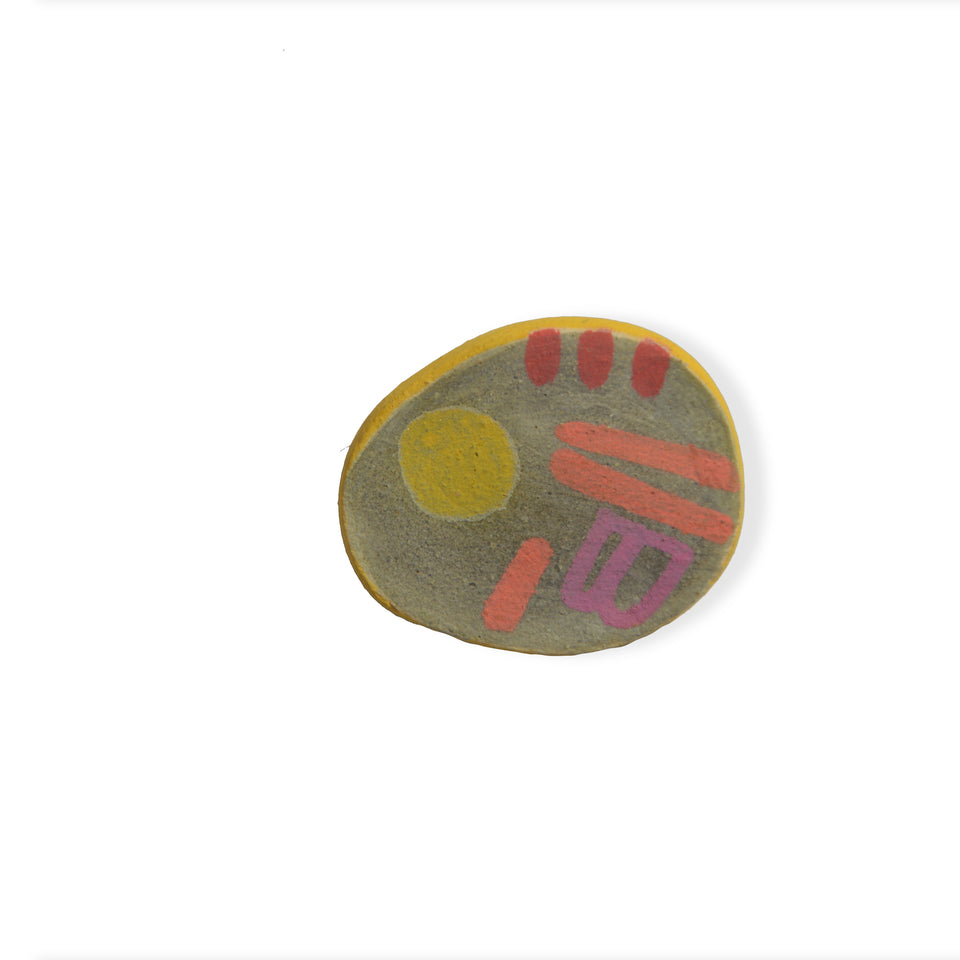 Stoneware Pin Grey - Small