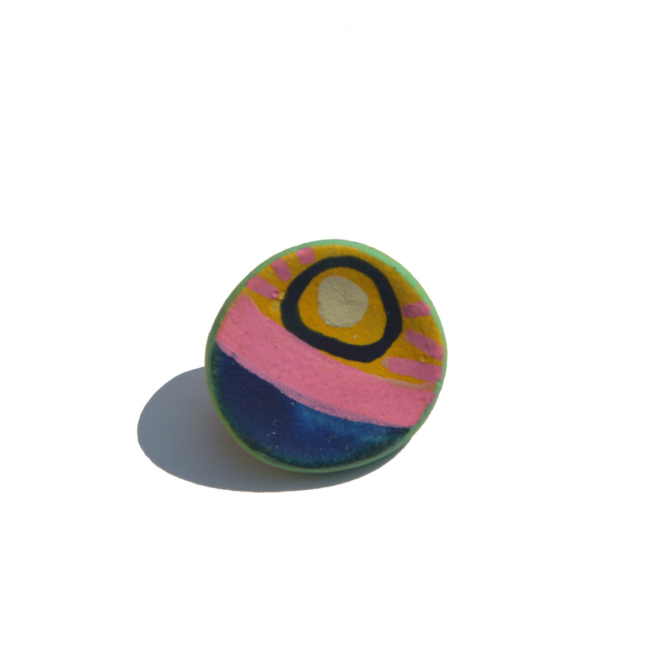 Stoneware Pin Pink - Small