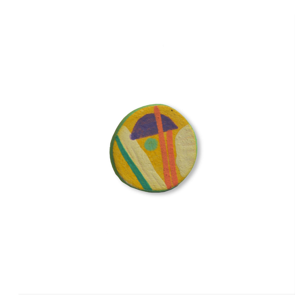 Stoneware Pin Yellow - Small