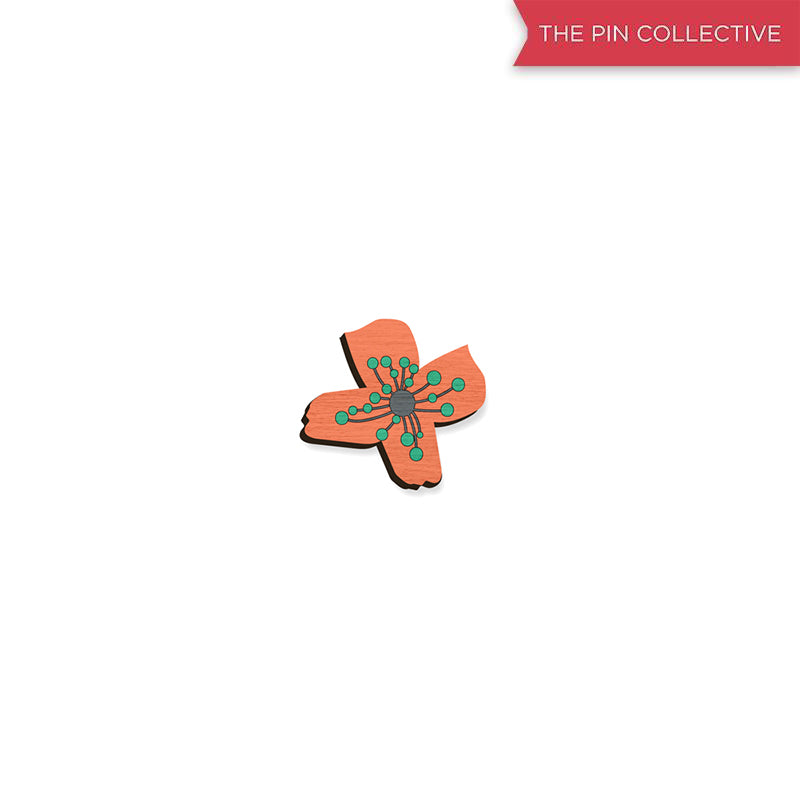 Flower Power - hand painted pin