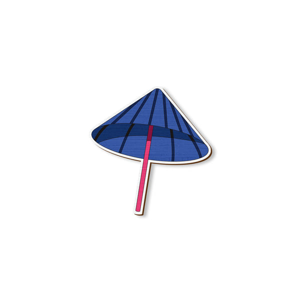 Umbrella - hand painted pin