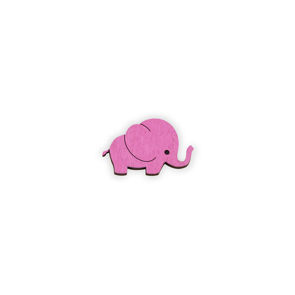 Baby Elephant - hand painted pin