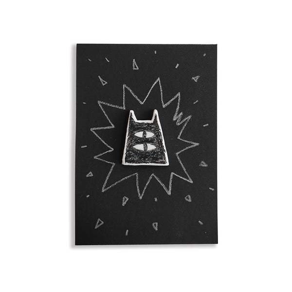 Black Cat 2 - hand painted pin