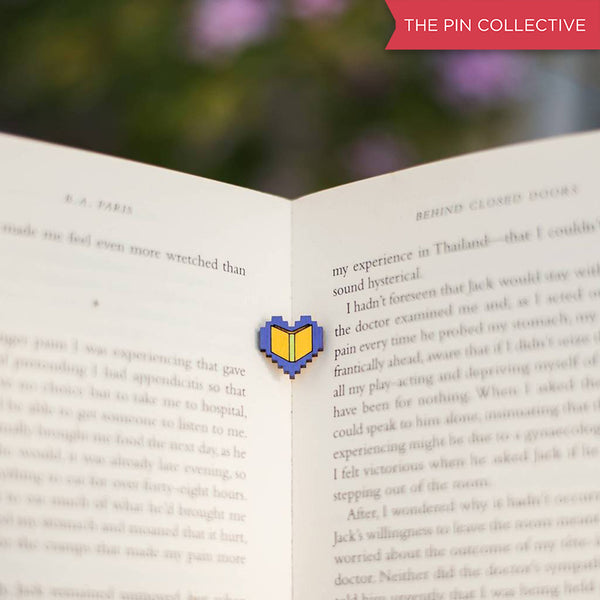 Book Lover - hand painted pin