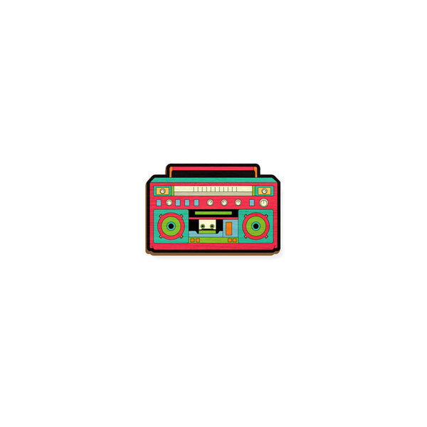 Boom Box - hand painted pin