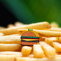 Burger - hand painted pin