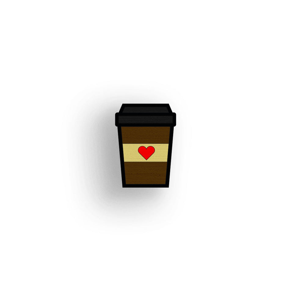 Coffee Love - hand painted pin
