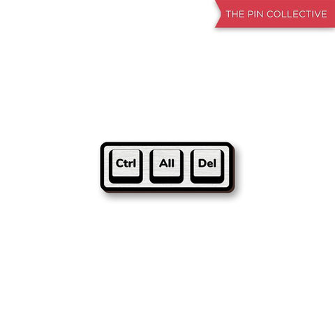 Ctrl All Del 01 - hand painted pin