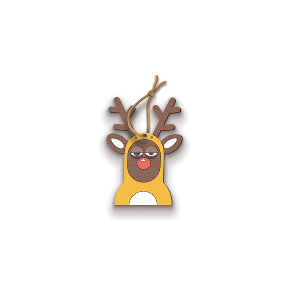 Reindeer Ornament - hand painted pin
