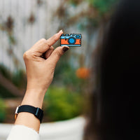 Digital Camera - hand painted pin