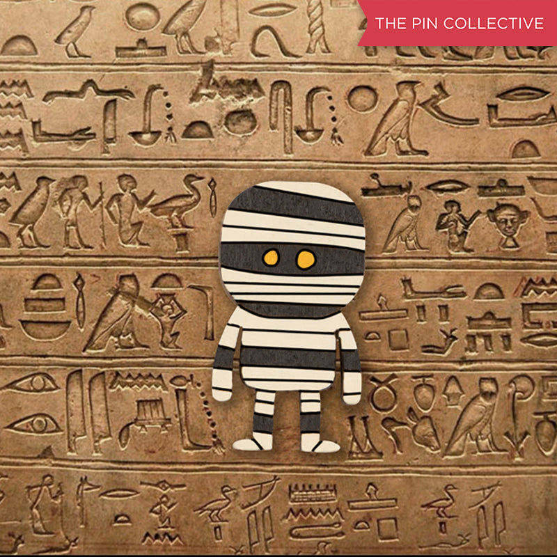 Egyptian Mummy - hand painted pin