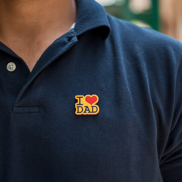 I ❤️ Dad - hand painted pin