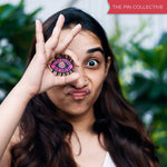 Stay woke behen by The Filmy Owl - hand painted pin