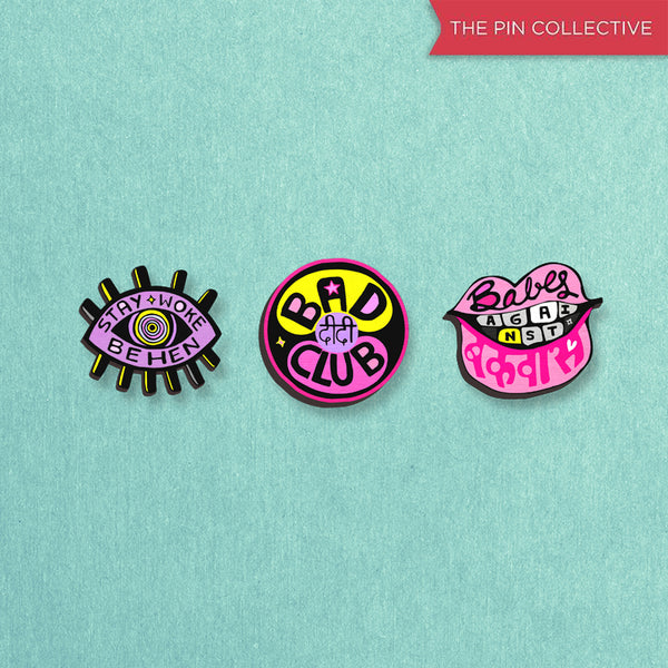 TheFilmyOwl Pins Pack - hand painted pin
