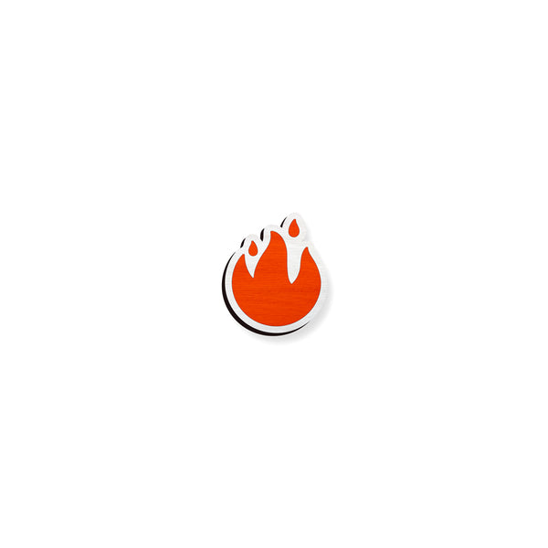 Fire Emoji - hand painted pin