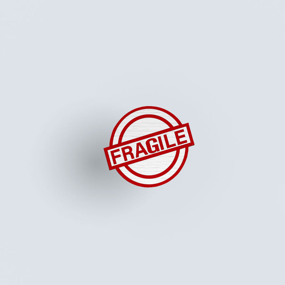 Fragile - hand painted pin