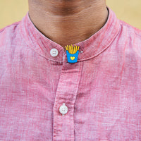French fries > french kiss - hand painted pin