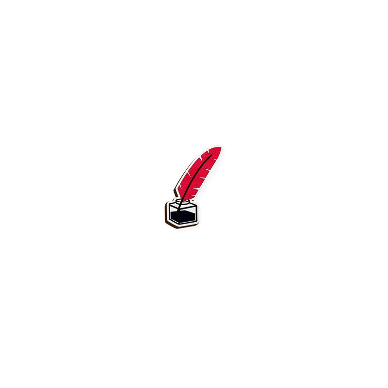 Ink pot lapel pin