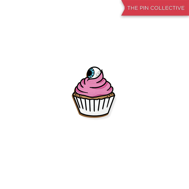 Eye Candy - Cupcake - hand painted pin