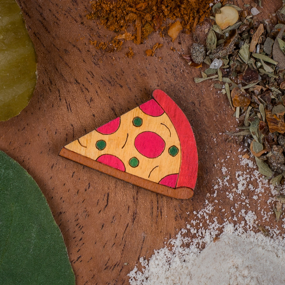 The nice slice! - hand painted pin