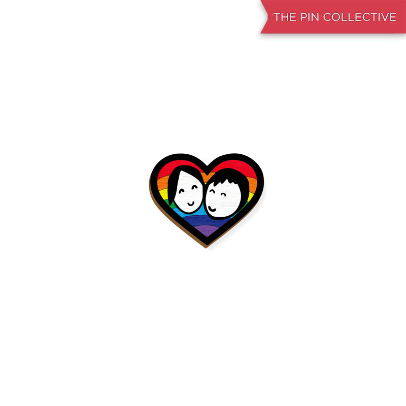 Love Wins - hand painted pin