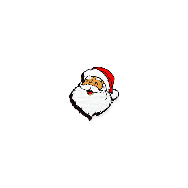 Santa - hand painted pin