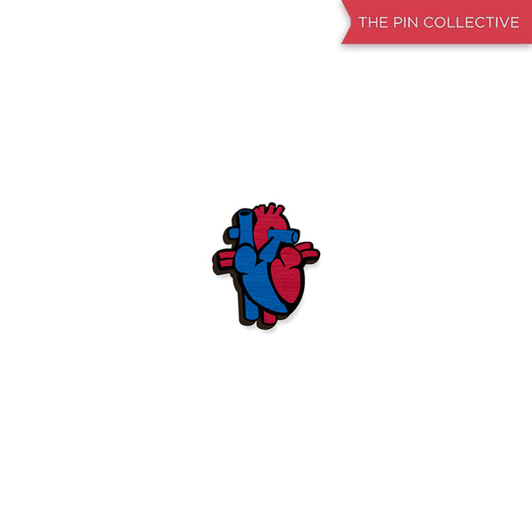 Heart - hand painted pin