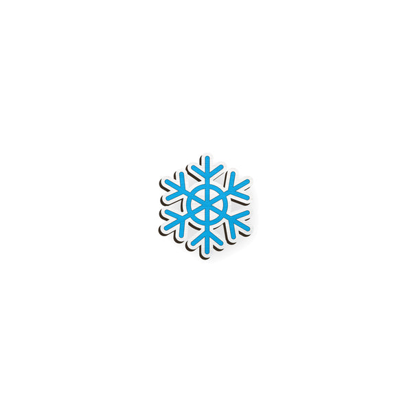 Snowflake - hand painted pin