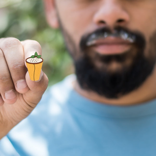 Sweet Lassi - hand painted pin
