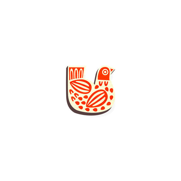 Indian Folk Art Pin 01 - hand painted pin