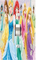 Disney Princess Fairy Tale Dress to Shine Bedding Set Matching Light Switch Wall Plate Covers And/or Outlet. (All Princess, 1x Toggle) Children's Decorative Light Switch Covers- Got You Covered WV