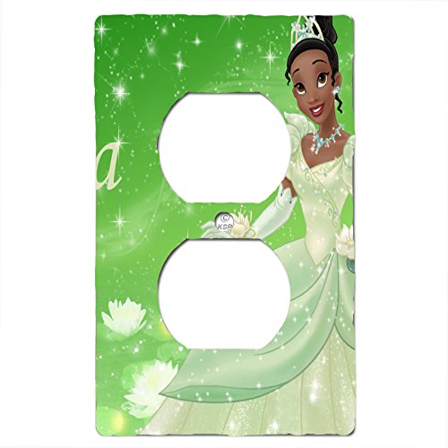 Disney Princess Fairy Tale Dress to Shine Bedding Set Matching Light Switch Wall Plate Covers And/or Outlet. (Tiana, 1x Outlet) Children's Decorative Light Switch Covers- Got You Covered WV