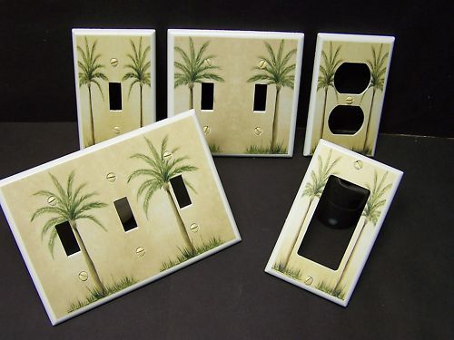 TROPICAL PALM TREE #4 LIGHT SWITCH OR OUTLET COVER Beach & Palm Trees- Got You Covered WV