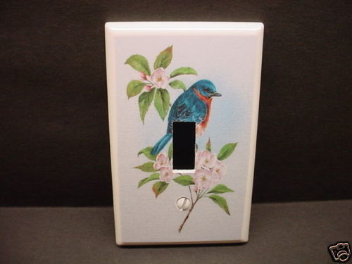 Blue Bird & Wild Roses Light Switch Plate Cover Home Improvement- Got You Covered WV