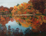 Autumn on Lost Lake - Nature pastel