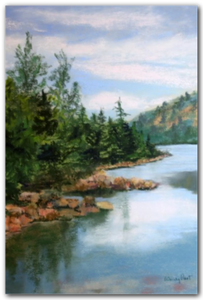 Lake in Acadia Park - Nature Pastel