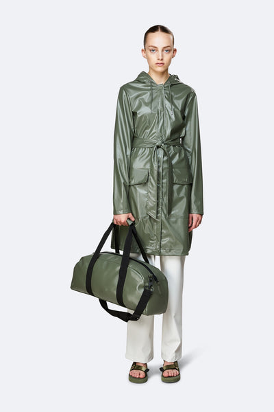 Daily duffel small shiny olive