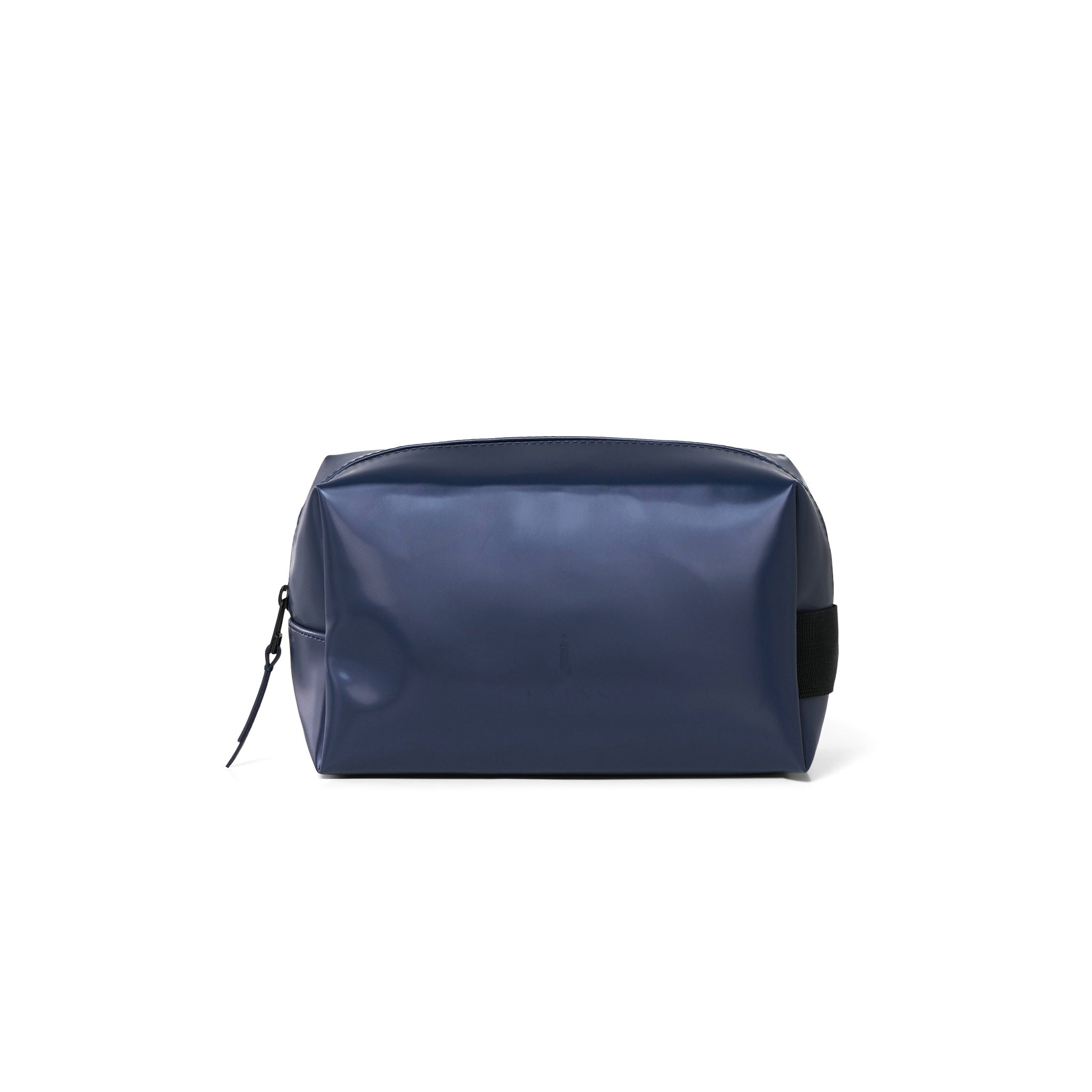 Wash bag small shiny blue