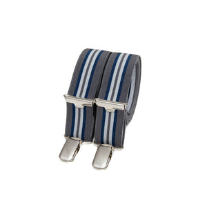 Skinny bertelles - grey with navy stripe
