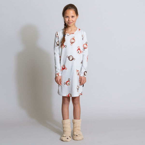 Teddy & Chimp long sleeve dress