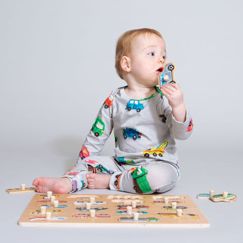Clay cars jumpsuit baby