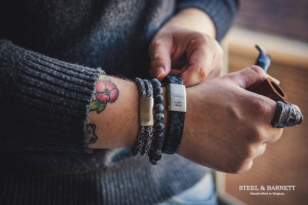 Armband Preston matt black